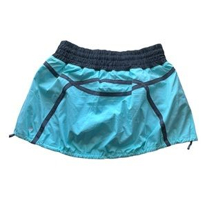 Lululemon Run Tracker Skirt Blue